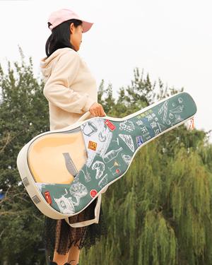 彩绘民谣吉他包