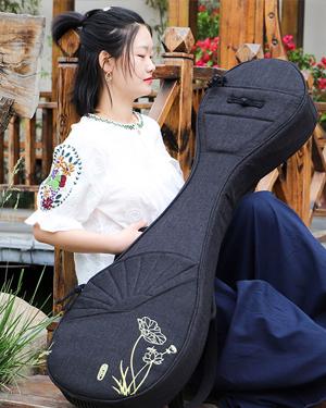 金川亚麻琵琶包C1957